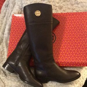 Tory Burch wide calf knee boots